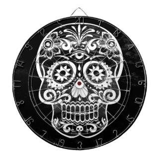 Cráneo, white04 negro tablero de dardos