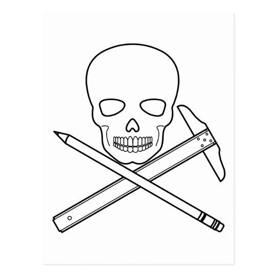 Cráneo-X-Dibujo Postales