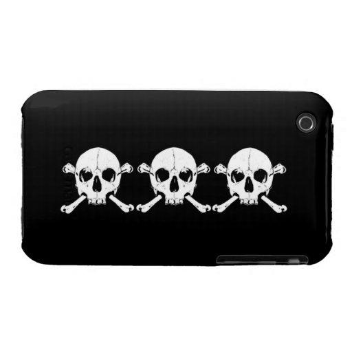 cráneo xxx y huesos iPhone 3 cárcasas