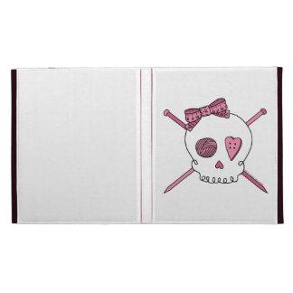 Cráneo y agujas que hacen punto (rosa)