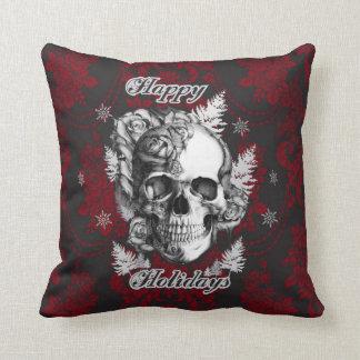 Cráneo y almohada clásicos del navidad de los rosa
