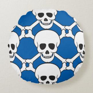 Cráneo y almohada de tiro redonda de encargo de la cojín redondo