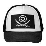 Cráneo y bandera de Anti-Copyright Copyleft de la  Gorras