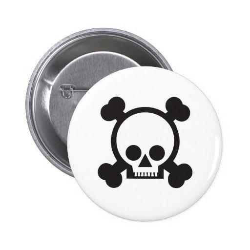 cráneo y bandera pirata 2 pins