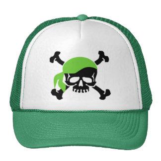 Cráneo y bandera pirata 4 gorro