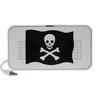 Cráneo y bandera pirata altavoces
