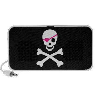 Cráneo y bandera pirata altavoz