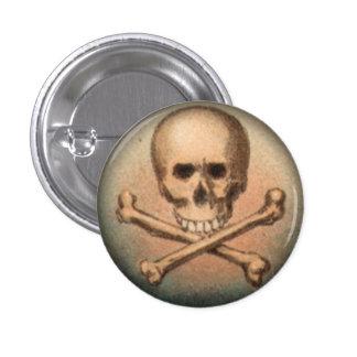 Cráneo y bandera pirata botón redondo de 1 pulgada pin redondo de 1 pulgada