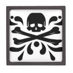Cráneo y bandera pirata caja de joyas de calidad