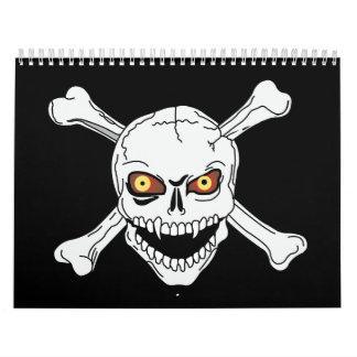Cráneo y bandera pirata - calendario