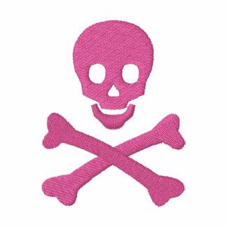 Cráneo y bandera pirata sudadera bordada con serigrafia