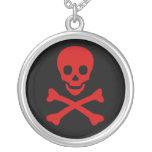 Cráneo y bandera pirata collar personalizado