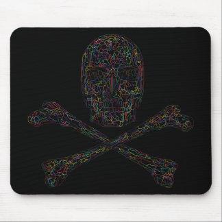 Cráneo y bandera pirata - color del rompecabezas tapete de ratón