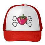 cráneo y bandera pirata de la fresa gorras de camionero