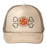 cráneo y bandera pirata de la pizza gorra