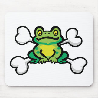cráneo y bandera pirata de la rana del froggy mousepad