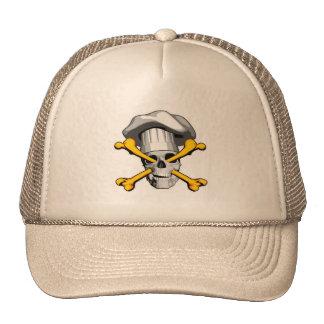 Cráneo y bandera pirata del cocinero gorras