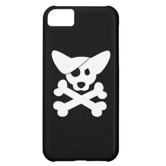 Cráneo y bandera pirata del Corgi Funda Para iPhone 5C