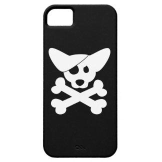Cráneo y bandera pirata del Corgi Funda Para iPhone SE/5/5s