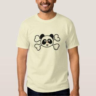 cráneo y bandera pirata del oso de panda camisas