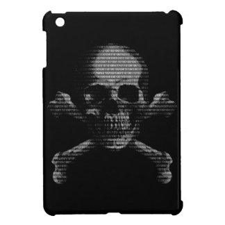Cráneo y bandera pirata del pirata informático iPad mini funda