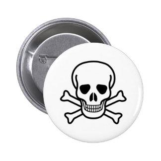 Cráneo y bandera pirata del pirata pins