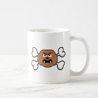 cráneo y bandera pirata del sasquatch tazas de café