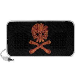 Cráneo y bandera pirata del tocino iPhone altavoces