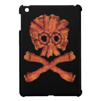 Cráneo y bandera pirata del tocino iPad mini carcasas