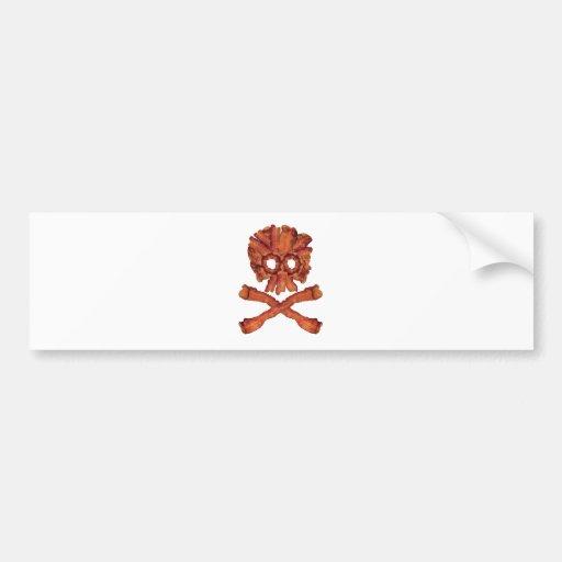 Cráneo y bandera pirata del tocino pegatina para auto