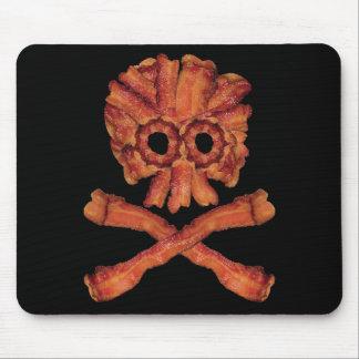 Cráneo y bandera pirata del tocino tapetes de ratones