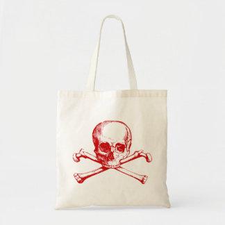 Cráneo y bandera pirata del vintage bolsas de mano