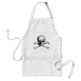 Cráneo y bandera pirata del vintage delantal