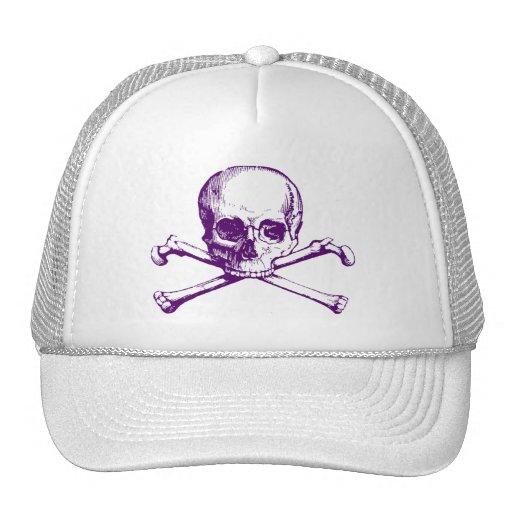Cráneo y bandera pirata del vintage gorras de camionero