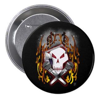 cráneo y bandera pirata DJ Pin Redondo 7 Cm