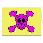 cráneo y bandera pirata felicitacion