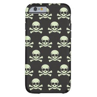Cráneo y bandera pirata funda de iPhone 6 tough