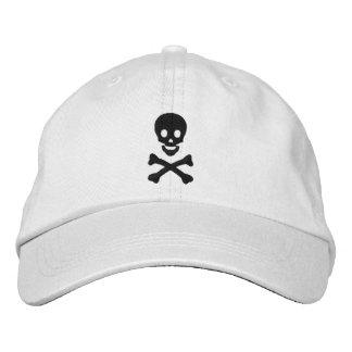 Cráneo y bandera pirata gorra bordada