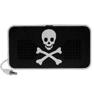 Cráneo y bandera pirata iPod altavoces