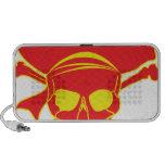 Cráneo y bandera pirata laptop altavoces