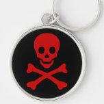 Cráneo y bandera pirata llaveros