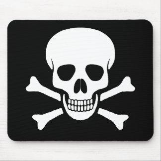 Cráneo y bandera pirata Mousepad