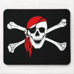 Cráneo y bandera pirata Mousepad del pirata Tapete De Ratones