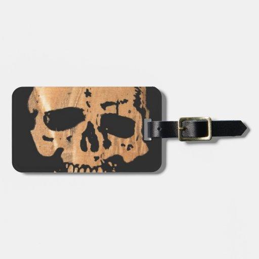 cráneo y bandera pirata no2. etiquetas de equipaje