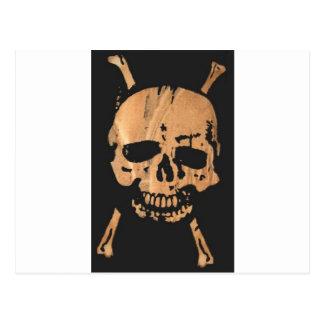cráneo y bandera pirata no2. postal