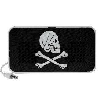 Cráneo y bandera pirata PC altavoces