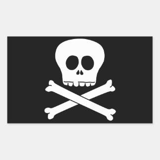 Cráneo y bandera pirata pegatina