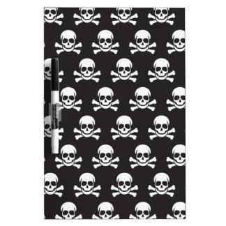 Cráneo y bandera pirata pizarras