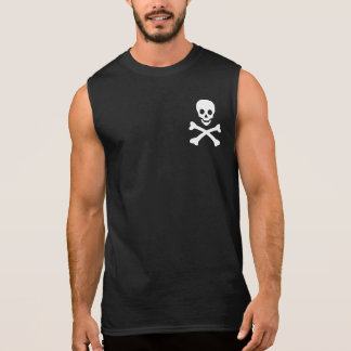 Cráneo y bandera pirata camisetas sin mangas