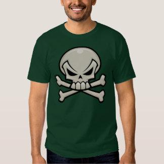 Cráneo y bandera pirata playeras